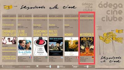 21:45 METRÓPOLIS 7ago'15 en Parque Ravella (cine)