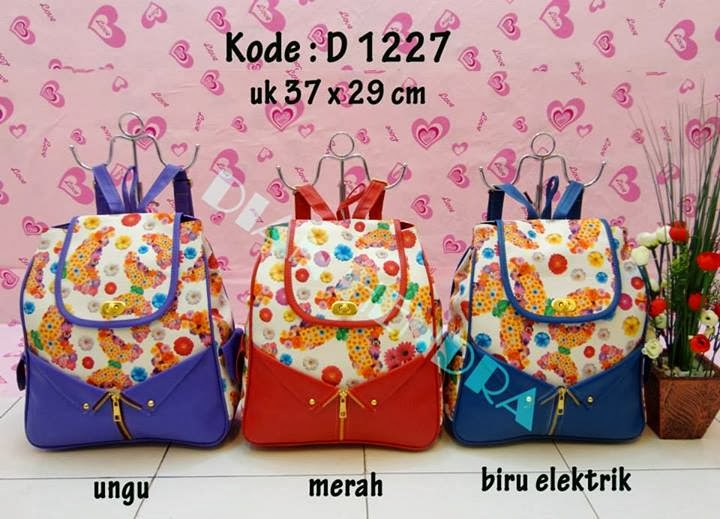 Tas Ransel Flower Dress D 1227