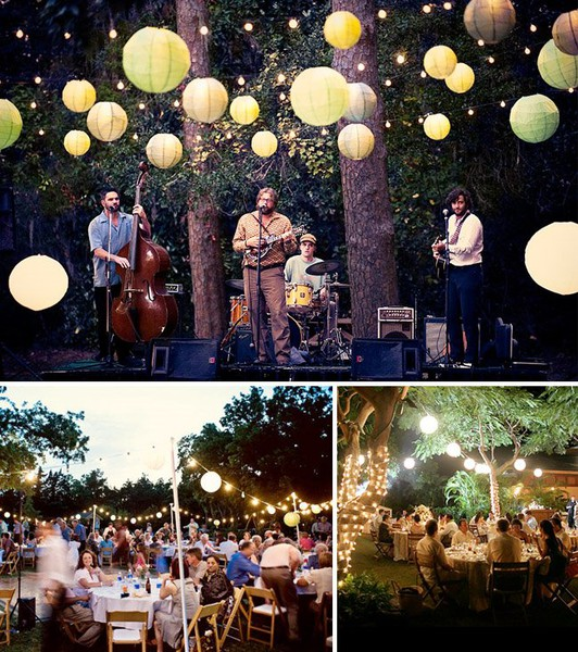 How To Hang String Lights For Outdoor Wedding : de Lovely Affair: {Decor} Creative Wedding Lighting Ideas