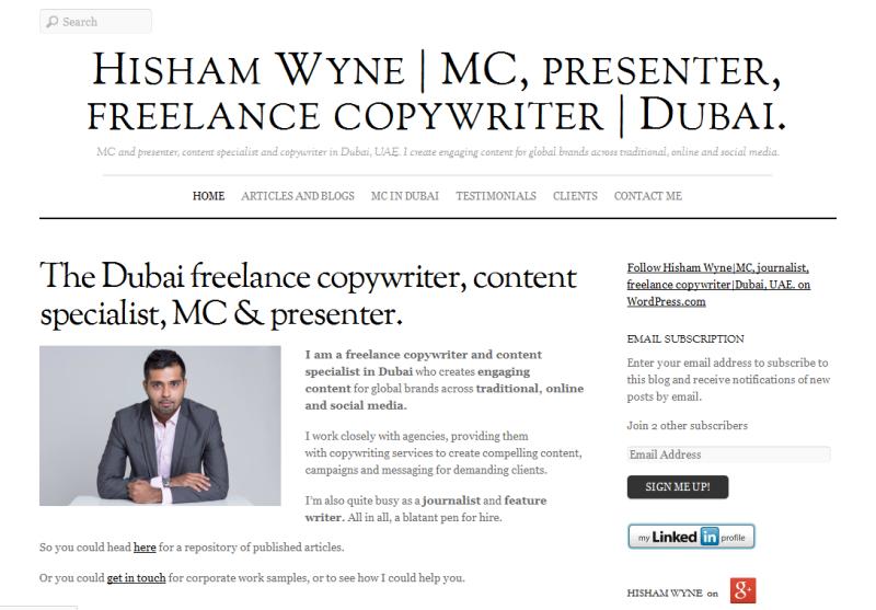 presenter and copywriter in Dubai