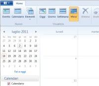 calendario Windows 7