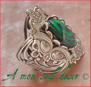 bague médiévale renaissance haliotis ormeau oreille de mer abalone paua shell medieval ring