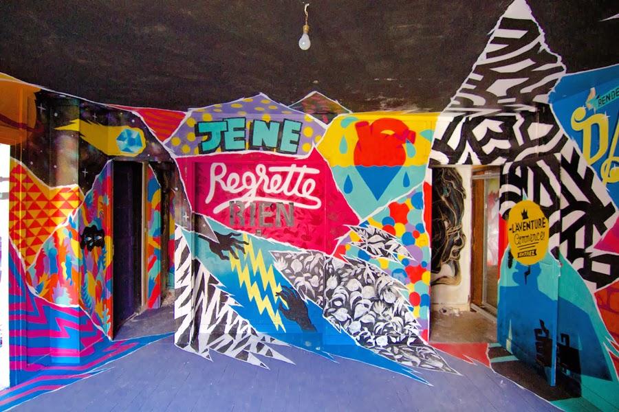 Tour Paris 13 -  exposition collective de Street Art