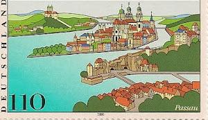 德国最大最美的柏杨旅游省,只有Passau市上了邮票。三条河城,美丽的大学城。(点击图片)