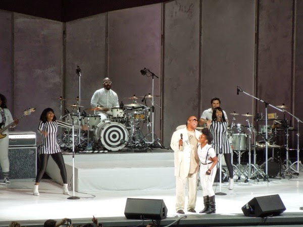 Stevie Wonder and Janelle Monáe Hollywood Bowl 2014