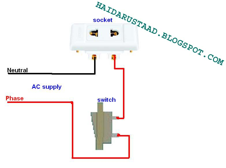 How To Control Two Pin Socket By One Way Switch English