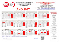 CALENDARIO LABORAL 2017 (imprimible)