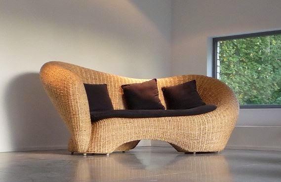 Bon Oxbow Sofa In Water Hyacinth
