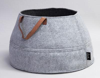 felt basket, gray