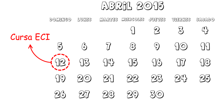 calendario abril carreras cursas ECI
