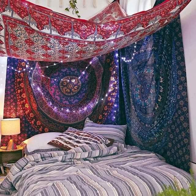 Psychedelic Love  Idéias lindas de decoração de quarto tem Hippie🍀