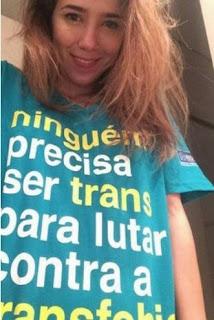 """Marjorie Estiano em foto contra a """"transfobia"""""""