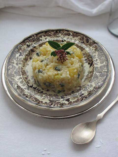 Risotto de manzana y gorgonzola receta to be gourmet for Como cocinar risotto