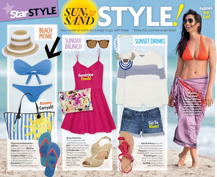 Kismet sun hat in Star Magazine