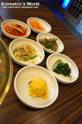 Banchan at Sariwon Korean Barbecue