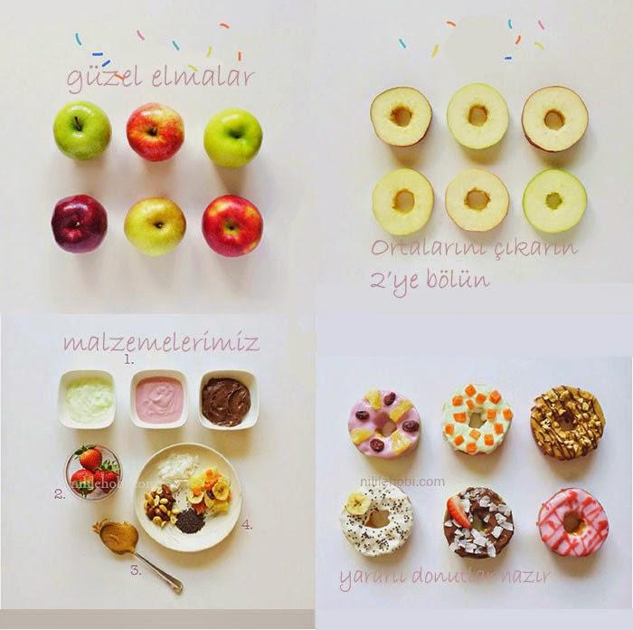 Elmalardan Donut Yapımı