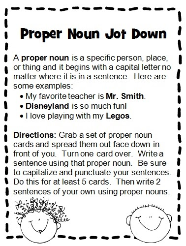 common and proper nouns worksheet - Proper Nouns Worksheet