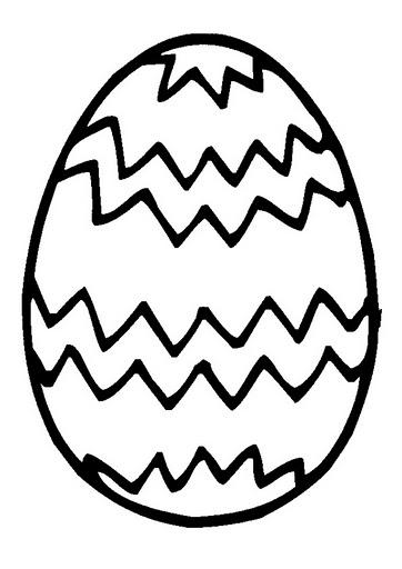 desenho de colorir Ovos de páscoa com laço