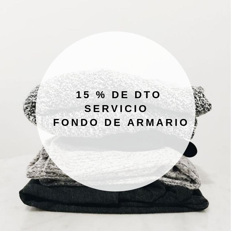 15% DE DTO EN SERVICIO DE FONDO DE ARMARIO