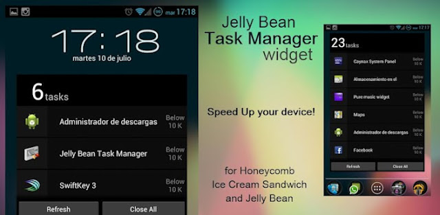 Jelly Bean Task Manager Widget