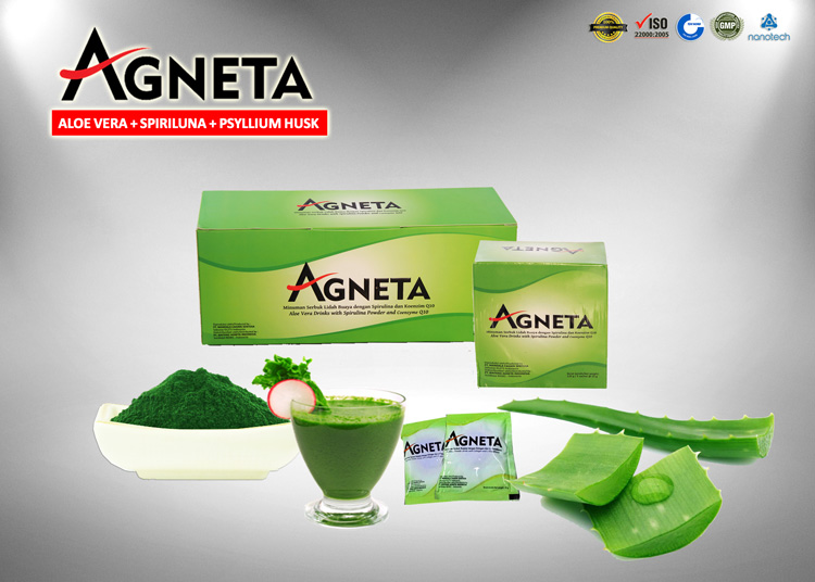 Agneta Aloe Vera dengan Spirulina & Psillium Husk