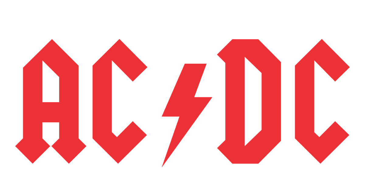 ac dc logo vector rock band format cdr ai eps svg