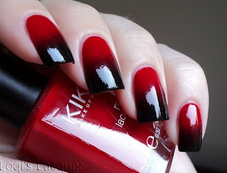 unhas vermelho e vinho