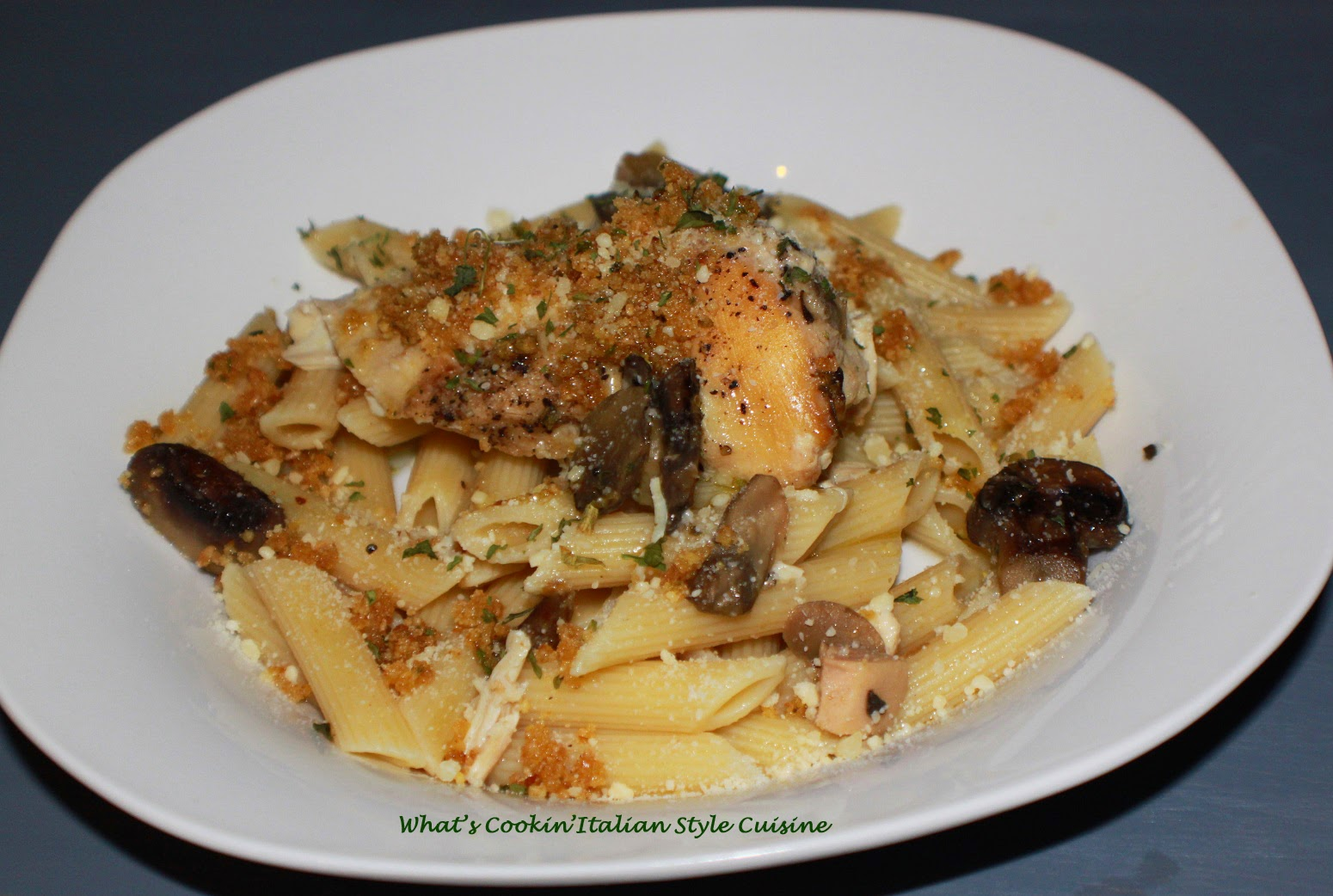 ... Style Cuisine: Slow Cooker Chicken Penne with Fried Breadcrumbs Recipe