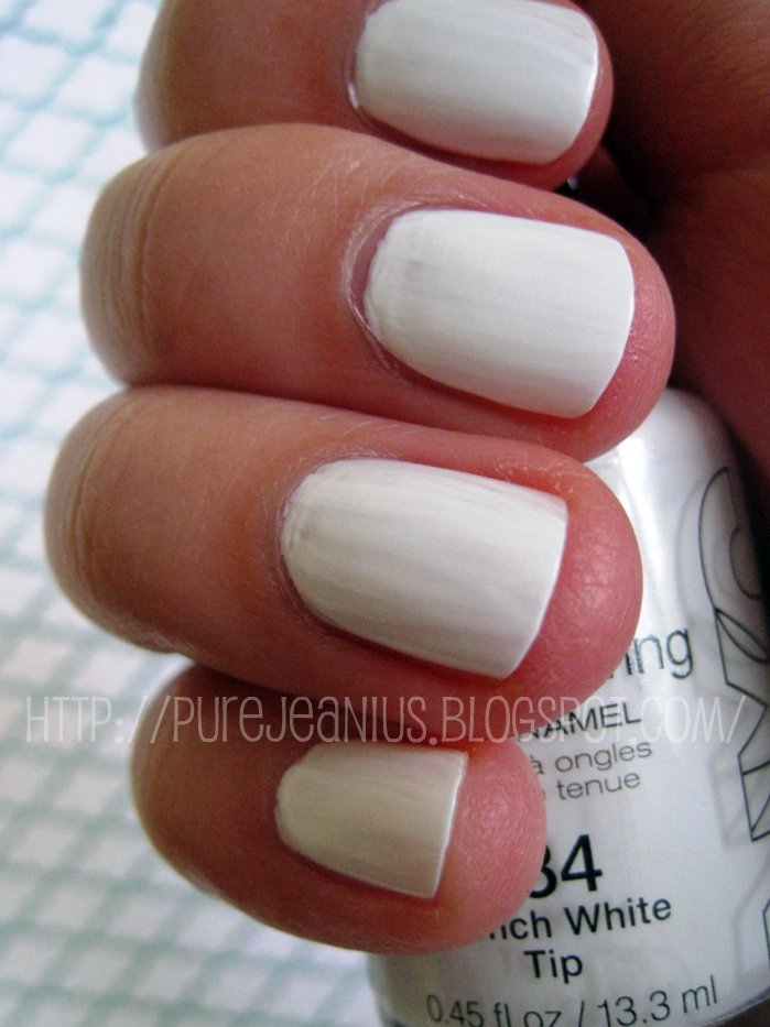 NYC New York Color Long Wearing Nail Enamel in French White Tip #134 ...