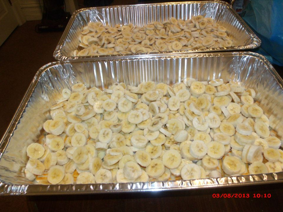 ... cookies. Then do another layer of cookies on top of banana slices
