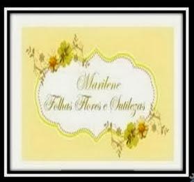 Recebido de folhasfloresesutilezas. Mimo da minha querida amiga Marilene.