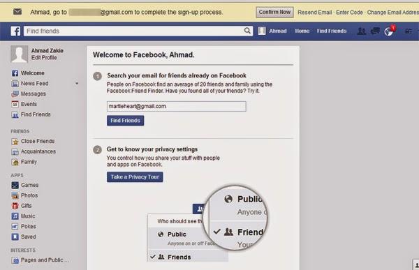 cara daftar FB terbaru