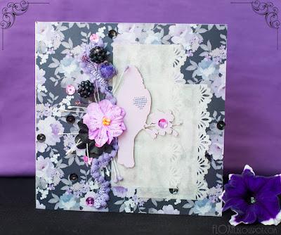 СП Вкусное лето, ежевика/малина, открытка с вышивкой