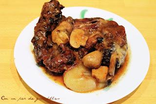Pollo al vino (Coc au vin)
