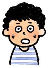 男の子の表情のイラスト(驚く)
