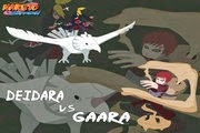 لعبة قتال غارا ضد ديدارا من انمي ناروتو شيبودن Deidara Vs Gaara game