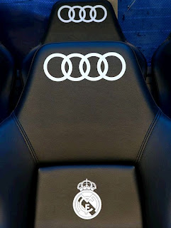 New Audi seats at the Bernabeu Stadium