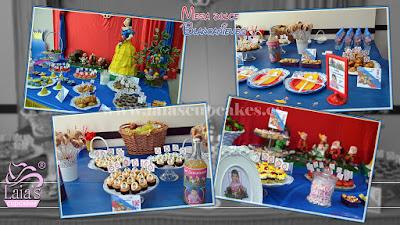 Mesa dulce tarta fondant Blancanieves 7 enanitos Laia's Cupcakes Puerto Sagunto