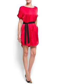 mango kırmızı elbise