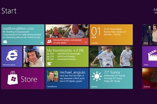 Metro interface of Microsoft