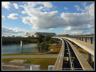tram ride from terminal at Orlando International Airport