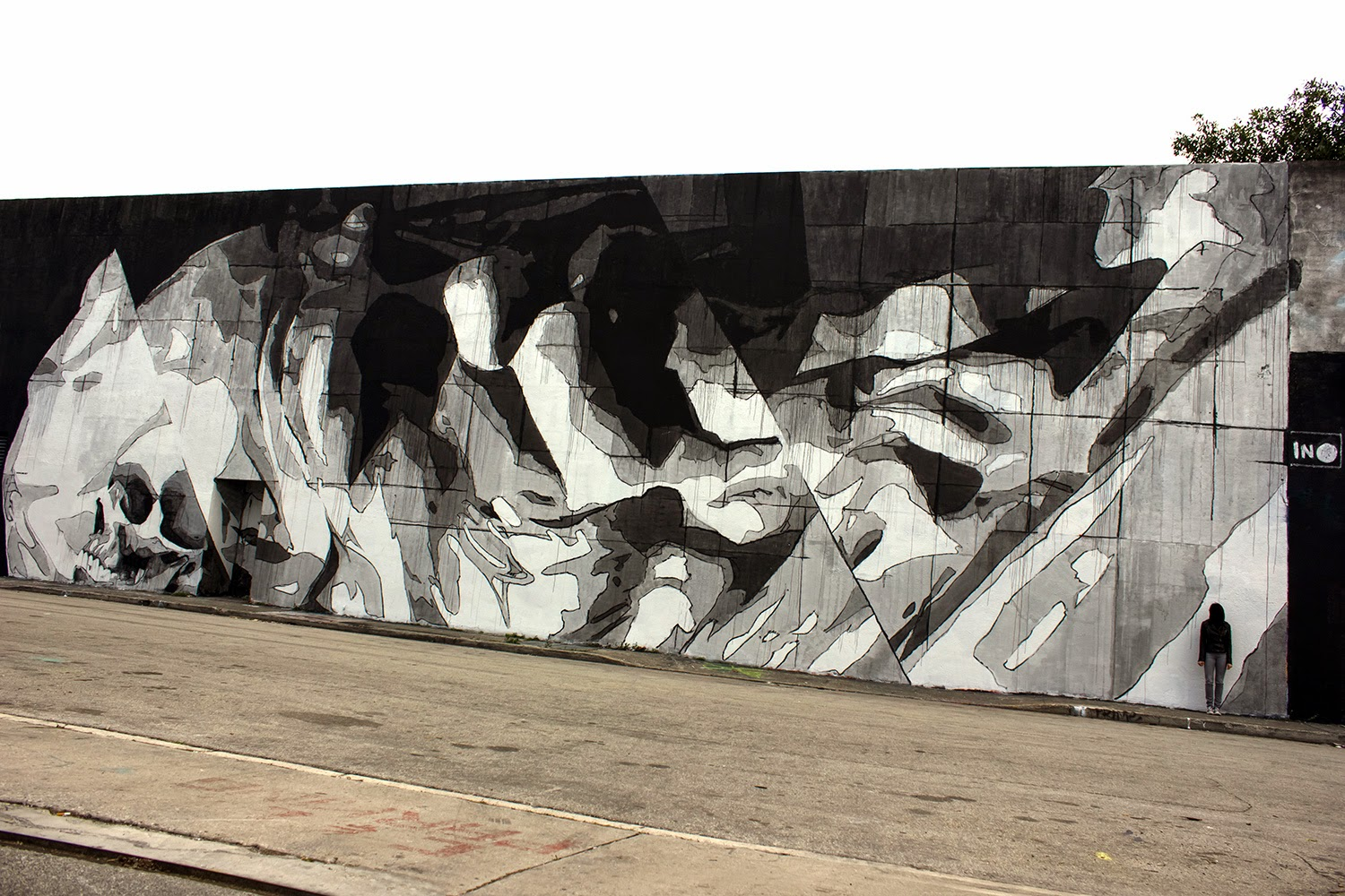 art basel 14 ino paints athens based mural artist ino painted the wall of the known old rc cola plant in