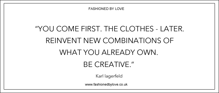 via fashioned by love | best fashion & style quotes | Karl Lagerfeld