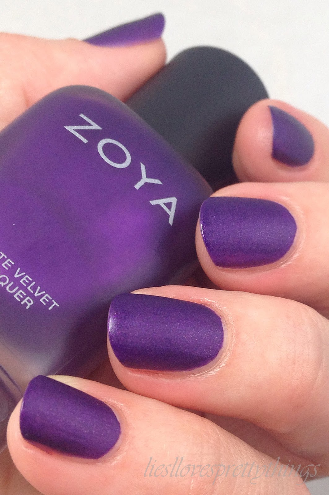 Zoya Matte Velvets swatch and review