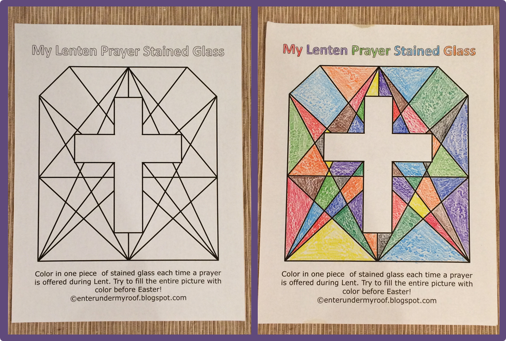 Making a Lenten Prayer Stained Glass - great activity for kids and Sunday school