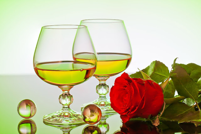 roses ans glass