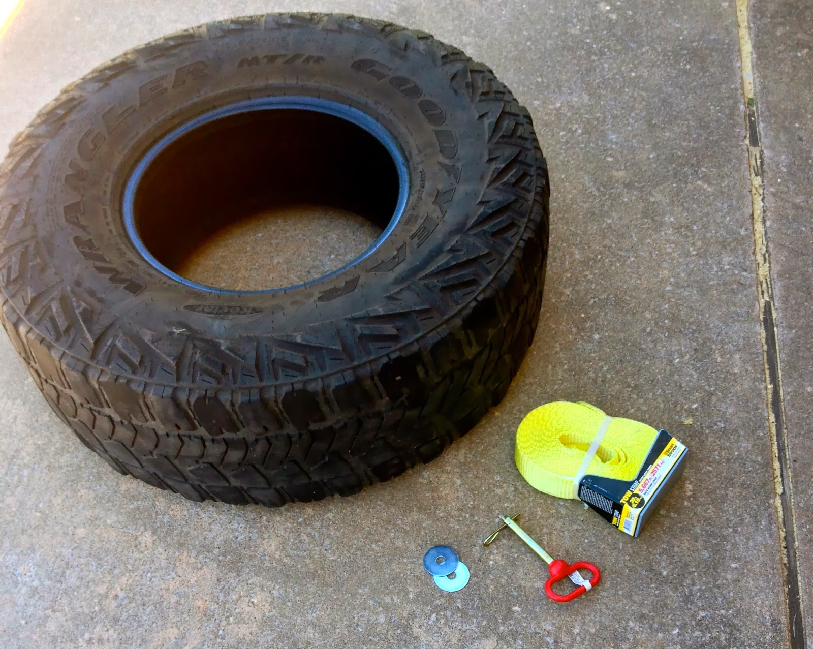 Mind body and bike diy tire drag sled to build strength for Diy tire