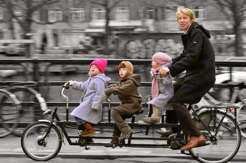velo enfant transport amsterdam