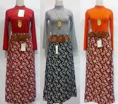 rok muslimah batik trendy