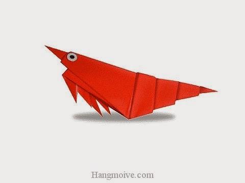 Cách gấp, xếp con tôm bằng giấy origami - Video hướng dẫn xếp hình sinh vật dưới nước - How to fold a Prawn